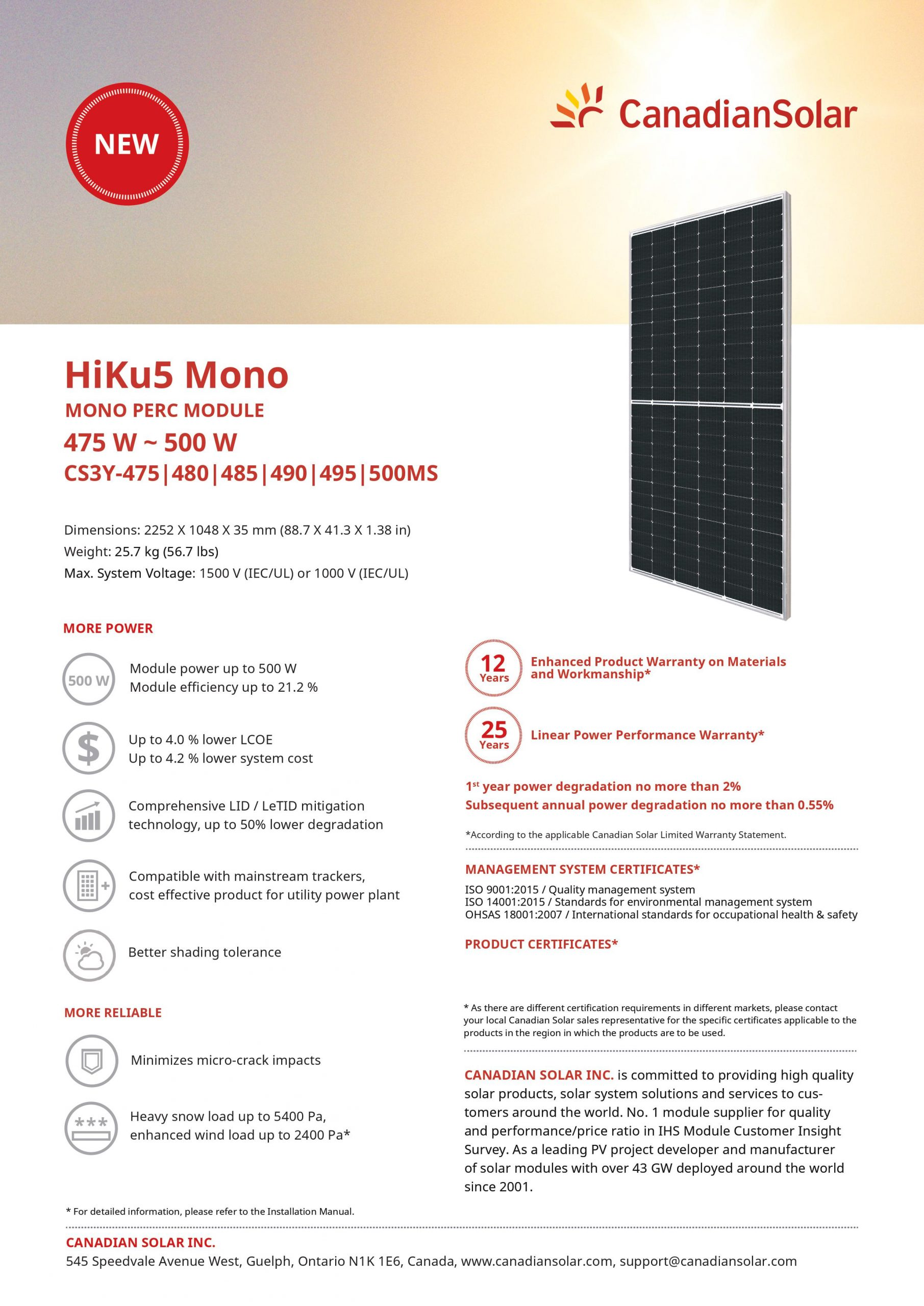 Read more about the article CANADIAN SOLAR 490 Watt